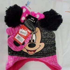 minnie hat and glove set